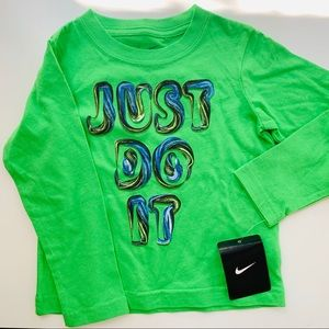 Nike Toddler Just Do It Long Sleeve